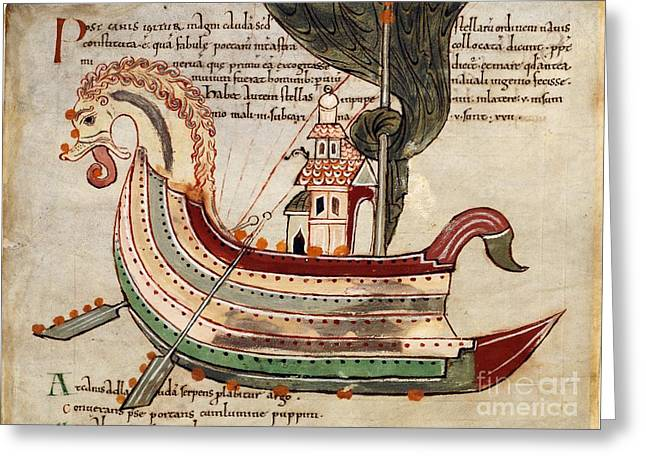 Argo Navis Greeting Cards - Argo Navis Constellation, 11th Century Greeting Card by British Library