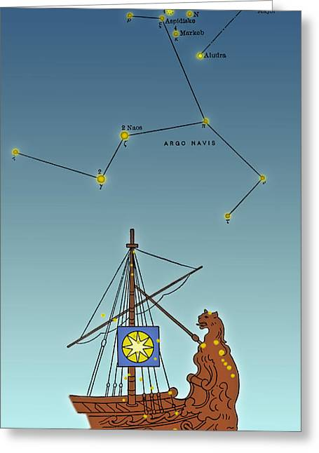 Argo Navis Constellation Greeting Card by Science Source
