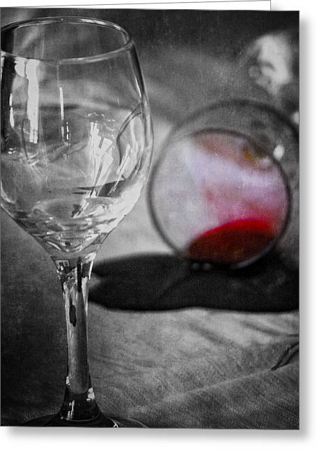 Table Wine Greeting Cards - Arguments That Spill Greeting Card by Jerry Cordeiro