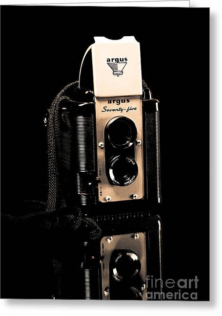 Argus 75 Greeting Card by Lawrence Burry