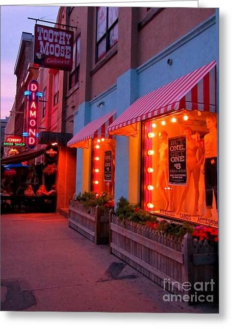 Store Fronts Greeting Cards - Argyle Street Halifax Greeting Card by John Malone