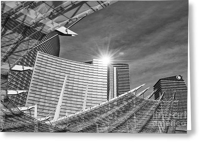 Front Entrance Greeting Cards - Aria Sun - Aria Resort and Casino at CityCenter in Las Vegas Greeting Card by Jamie Pham