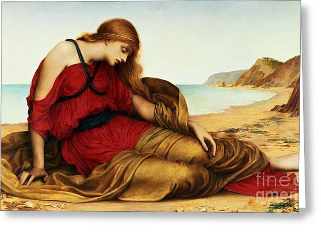 Williams Greeting Cards - Ariadne in Naxos Greeting Card by Evelyn De Morgan