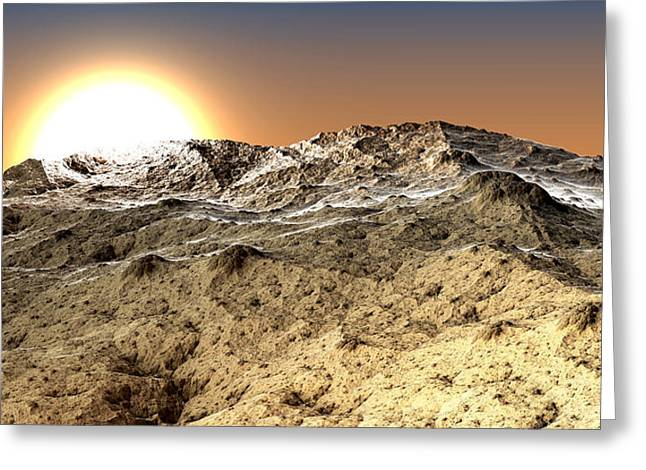 Arid Greeting Card by Kevin Trow