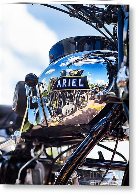 1930s Greeting Cards - Ariel Motorcycle HDR Greeting Card by Tim Gainey