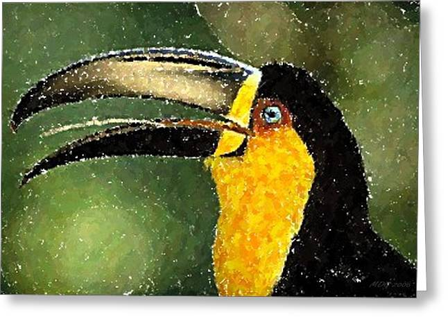 Ariel Pastels Greeting Cards - Ariel Toucan Bird   Greeting Card by Olde Time  Mercantile