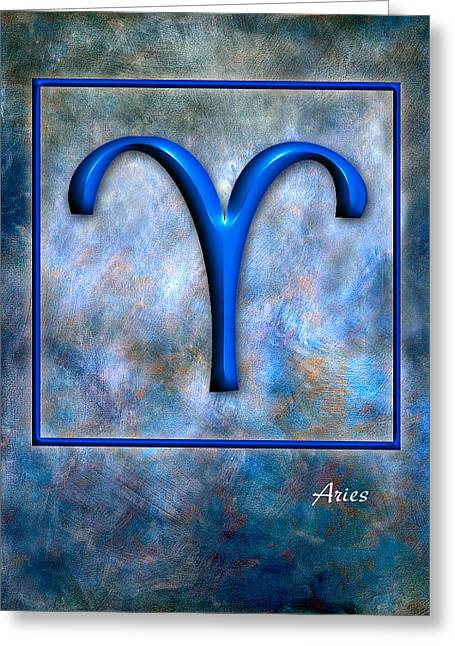Aries  Greeting Card by Mauro Celotti