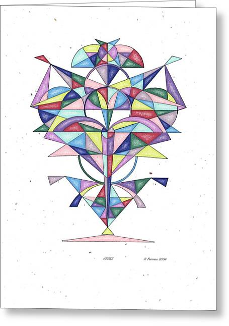 Sacred Drawings Greeting Cards - Aries Zodiac Symbol Greeting Card by Ruthie Ferrone