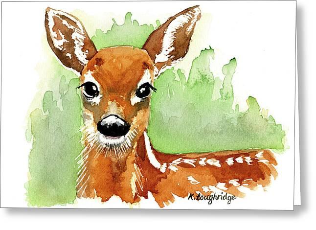 Aristocratic Red Deer Greeting Card by Karen  Loughridge KLArt