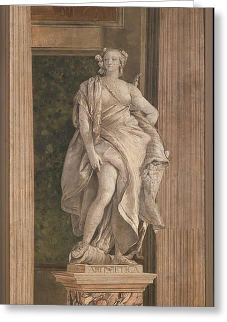 Giovanni Battista Tiepolo Greeting Cards - Arithmetic Greeting Card by Giovanni Battista Tiepolo