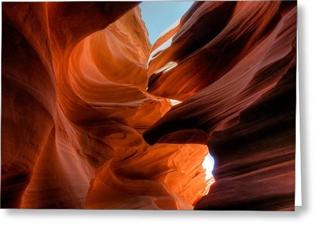 Lower Antelope Canyon Greeting Cards - Arizona - Antelope Canyon 007 Greeting Card by Lance Vaughn