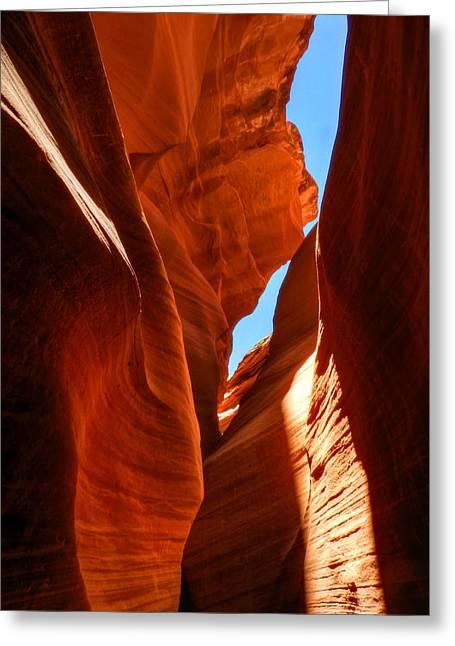 Lower Antelope Canyon Greeting Cards - Arizona - Antelope Canyon 008 Greeting Card by Lance Vaughn