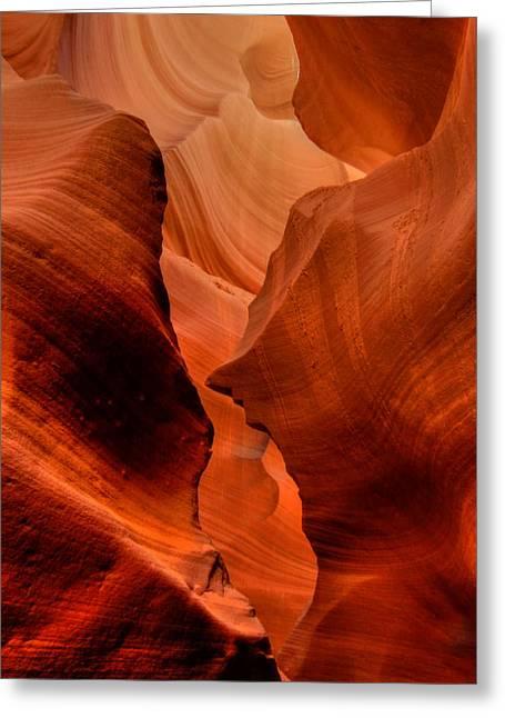 Lower Antelope Canyon Greeting Cards - Arizona - Antelope Canyon 013 Greeting Card by Lance Vaughn