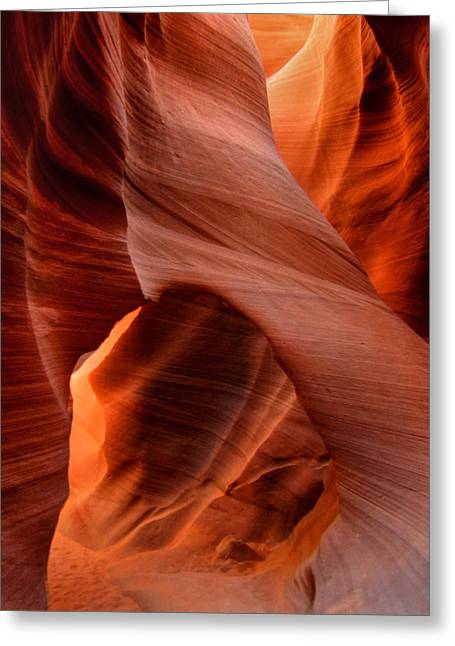 Antelope Canyon Greeting Cards - Arizona - Antelope Canyon 014 Greeting Card by Lance Vaughn