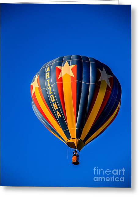 West Wetland Park Greeting Cards - Arizona Balloon Greeting Card by Robert Bales