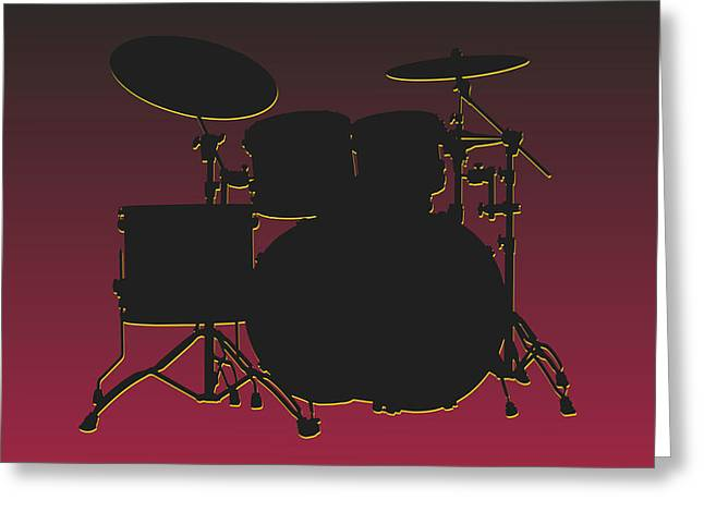 Drum Greeting Cards - Arizona Cardinals Drum Set Greeting Card by Joe Hamilton