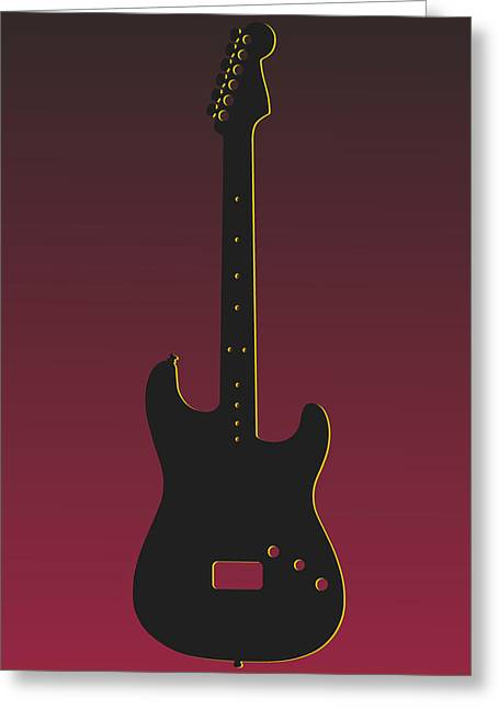 Concert Bands Photographs Greeting Cards - Arizona Cardinals Guitar Greeting Card by Joe Hamilton
