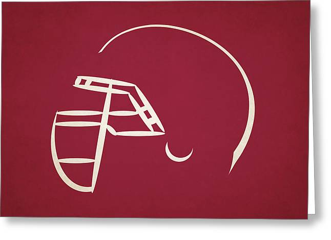 Arizona Cardinals Greeting Cards - Arizona Cardinals Helmet Greeting Card by Joe Hamilton