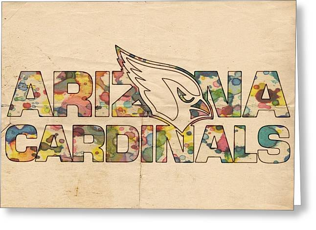 Arizona Posters Greeting Cards - Arizona Cardinals Logo Vintage Greeting Card by Florian Rodarte