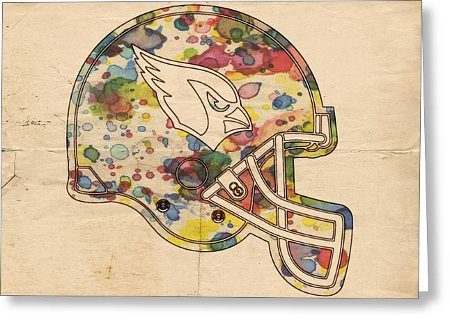 Arizona Posters Greeting Cards - Arizona Cardinals Poster Art Greeting Card by Florian Rodarte
