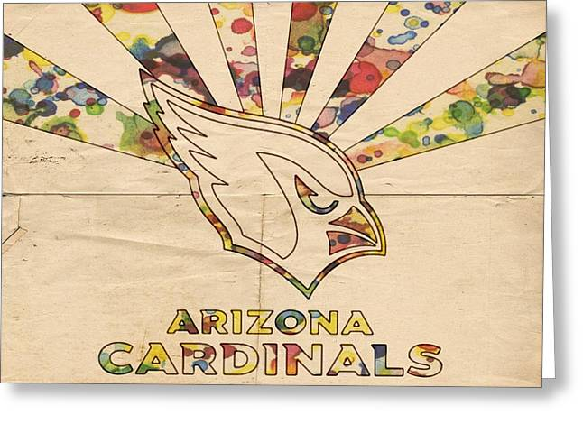 Arizona Posters Greeting Cards - Arizona Cardinals Poster Colors Greeting Card by Florian Rodarte