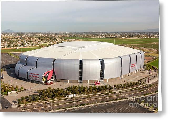 Az Cardinals Greeting Cards - Arizona Cardinals Stadium Greeting Card by John Ferrante
