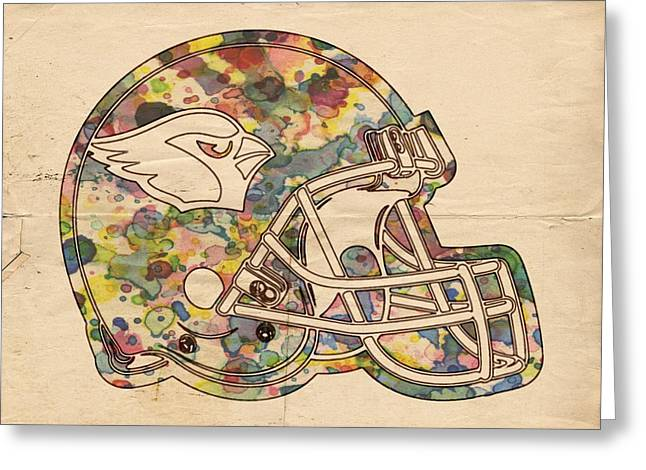 Arizona Posters Greeting Cards - Arizona Cardinals Vintage Art Greeting Card by Florian Rodarte