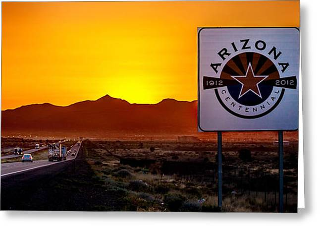 Travel Truck Greeting Cards - Arizona Centennial Greeting Card by Az Jackson