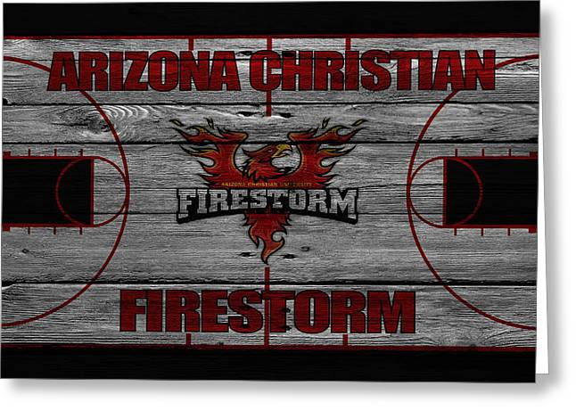 Firestorm Greeting Cards - Arizona Christian Firestorm Greeting Card by Joe Hamilton