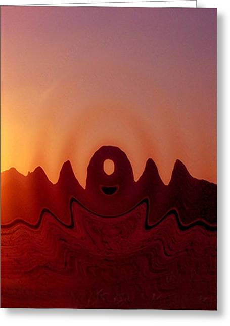 Native American Rug Greeting Cards - Arizona Formations Greeting Card by Dennis Buckman