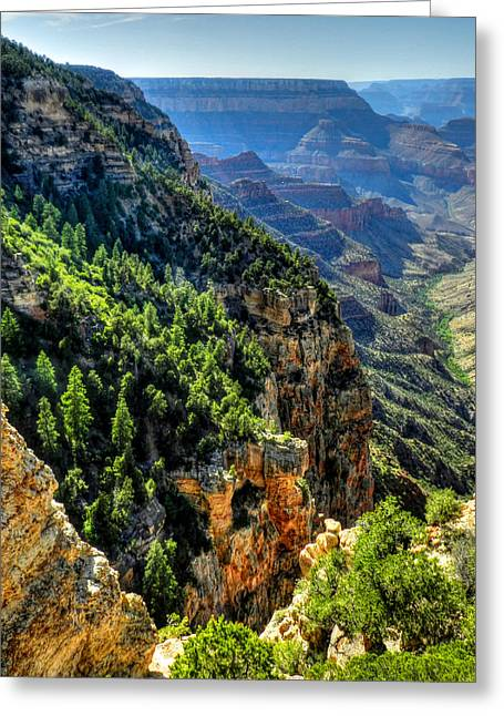 Grand Canyon Greeting Cards - Arizona - Grand Canyon 007 Greeting Card by Lance Vaughn