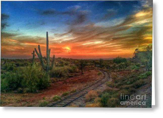 Whispering Tracks Greeting Cards - Arizona heaven  Greeting Card by L Jackson