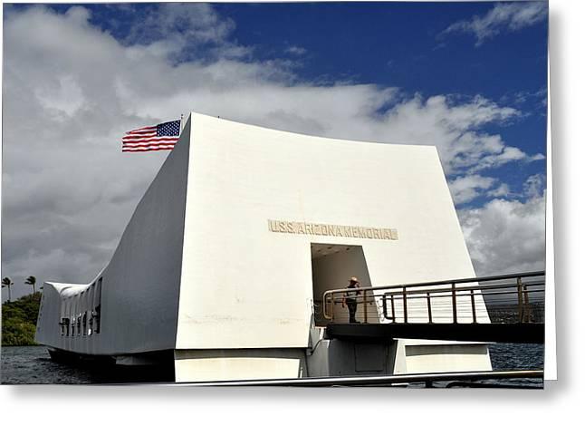 Arizona Memorial Greeting Card by Caroline Stella