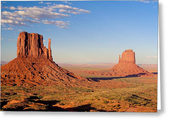 Eroded Greeting Cards - Arizona Monument Valley Greeting Card by Anonymous