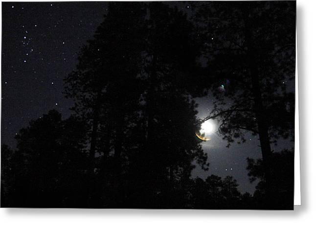 Moonrise Greeting Cards - Arizona Moon Rise Greeting Card by Joseph G Holland