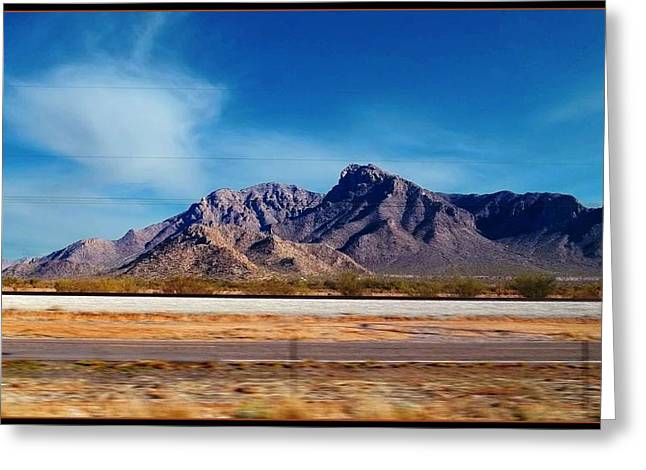 Roadway Digital Art Greeting Cards - Arizona - On The Fly Greeting Card by Glenn McCarthy Art and Photography