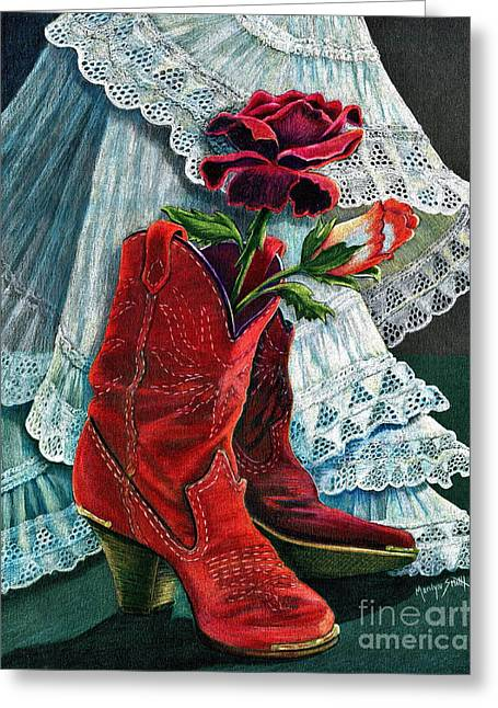 Arizona Rose Greeting Card by Marilyn Smith