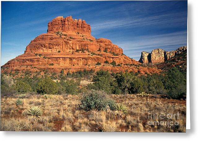 Eroded Greeting Cards - Arizona Sedona Bell Rock  Greeting Card by Anonymous