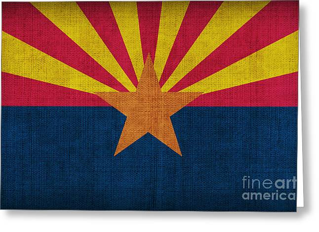 Best Sellers Greeting Cards - Arizona state flag Greeting Card by Pixel Chimp