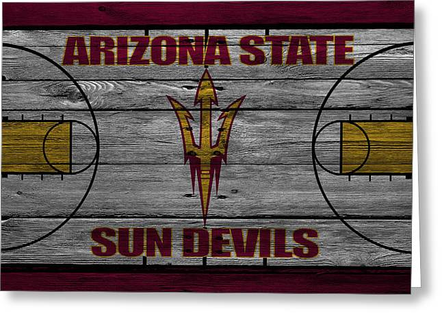 Dunk Greeting Cards - Arizona State Sun Devils Greeting Card by Joe Hamilton