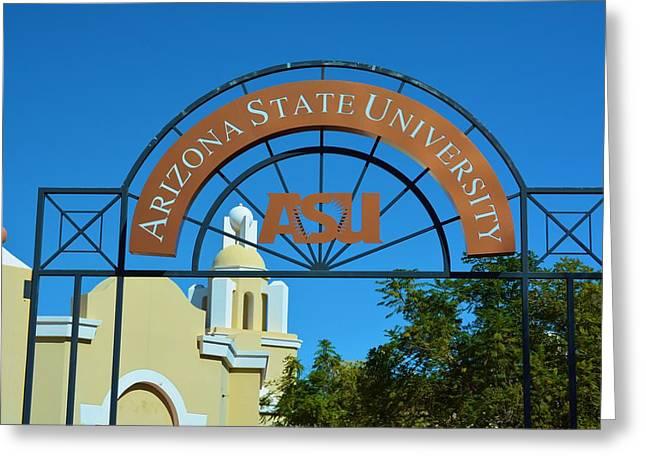 Asu Greeting Cards - Arizona State University Greeting Card by Richard Jenkins