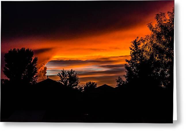 Prescott Greeting Cards - Arizona Sunset 8.25.14  Greeting Card by Alan Marlowe
