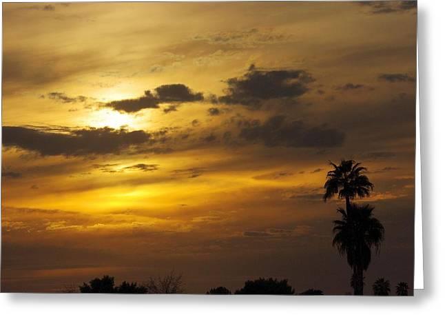 David Rizzo Greeting Cards - Arizona sunset Greeting Card by David Rizzo