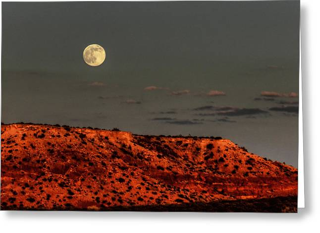 Desert Southwest Greeting Cards - Arizona Supermoon 001 Greeting Card by Lance Vaughn