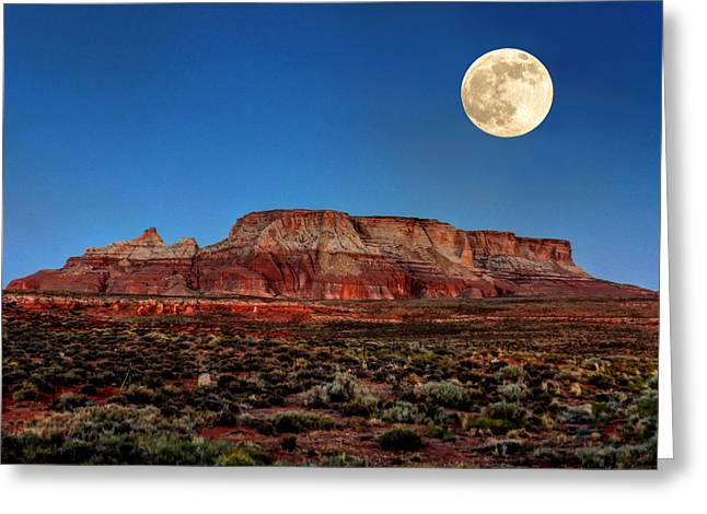 Desert Southwest Greeting Cards - Arizona Supermoon 003 Greeting Card by Lance Vaughn