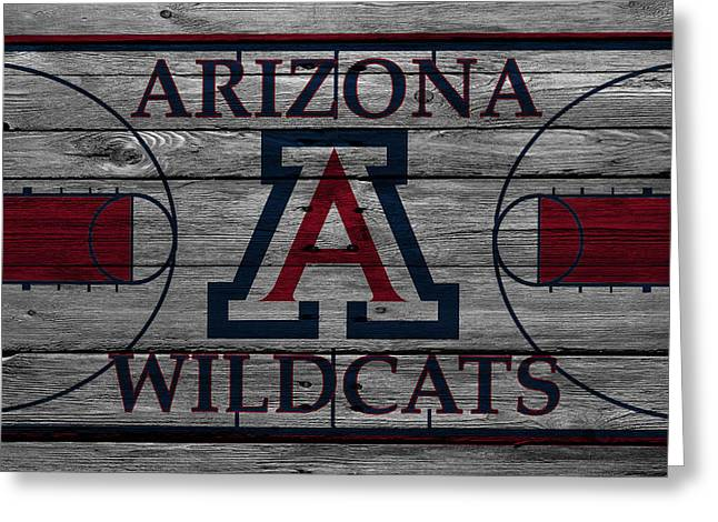 Wildcat Greeting Cards - Arizona Wildcats Greeting Card by Joe Hamilton