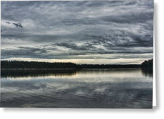Ron Roberts Photography Greeting Cards - Arkada Point Boston Bay Shelton WA Greeting Card by Ron Roberts