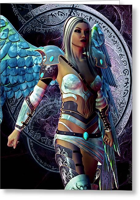 Arkangel Greeting Cards - ArkAngel Greeting Card by Jean Gugliuzza