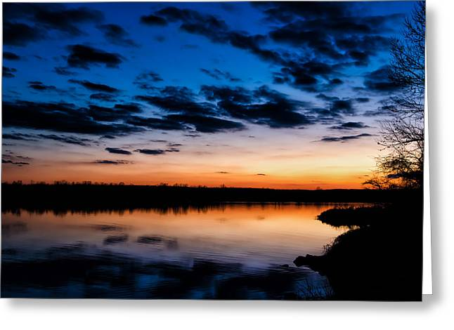 Wildlife Refuge. Greeting Cards - Arkansas River Sunset Greeting Card by James Barber