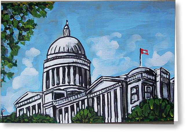 Arkansas Paintings Greeting Cards - Arkansas State Capitol Greeting Card by Mitchell McClenney